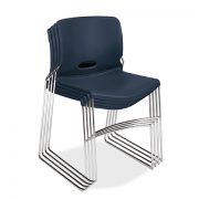 HON-olson navy blue stacked chair