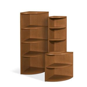 Hon Corner Unit Wood Book case