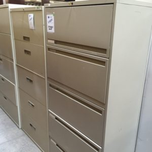 30 inch 5 drawer lateral file putty