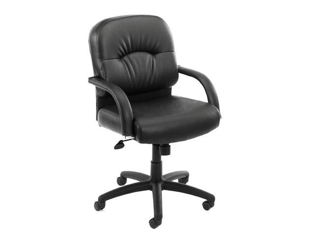 Boss Office Chairs boss 7406 executive chair mid back faux leather - arizona office