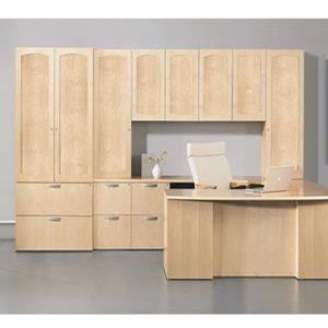 Praxis U Desk wall unit