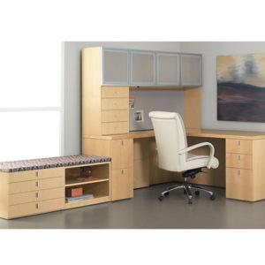 Impulse G2 Desk with Bench File storage