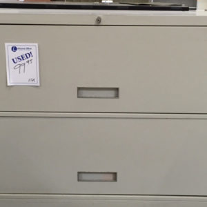 2 Drawer 36 inch Metal Lateral File Putty