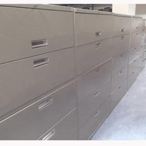 5 Drawer 36 Inch Wide Lateral Light Grey HON