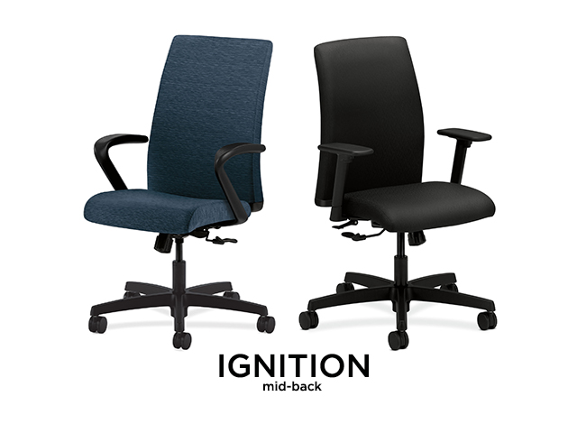 hon ignition mid back chair arizona office furniture