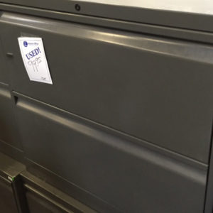 Used 30 inch 2 Drawer Lateral File Charcoal gray