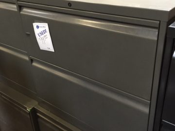 used 30 inch 2 drawer lateral charcoal gray
