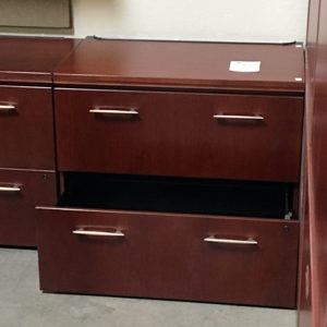used haworth 2 drawer lateral file mahogany