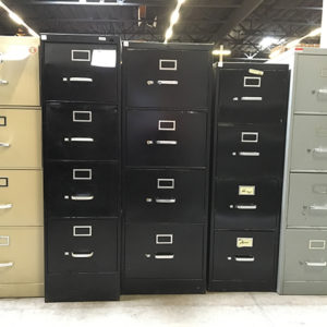4 drawer files used