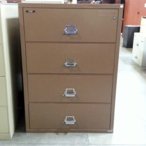 4 drawer fire king lateral sand brown