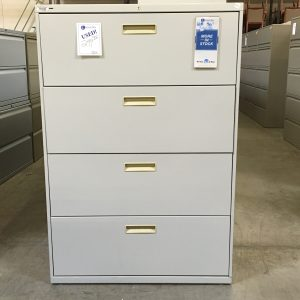 4 drawer lateral file gray