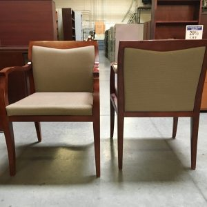 used haworth beige fabric guest chair