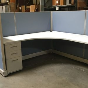 used ao2 cubicles blue