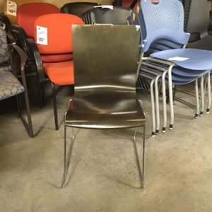 used leland wood chair front view