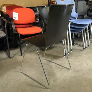 used leland wood chair rear view