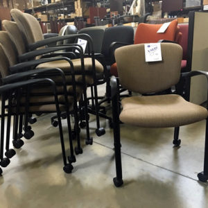 used haworth improv stack chair