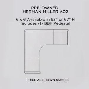 REFURBISHED HERMAN MILLER A02
