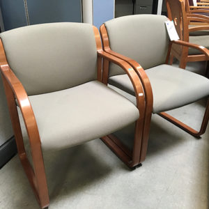 used reception chairs beige