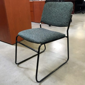 nightengale stck chair green blk