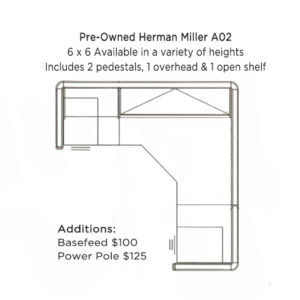 Used Herman Miller A02 Cubicle