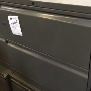 used knoll 2 drawer 36 inch lateral charcoal gray