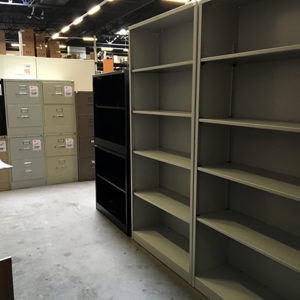 used 60 inch metal book case
