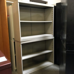 used metal bookcase 2 shelf
