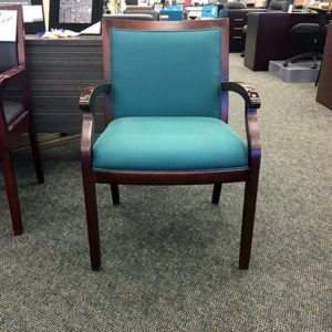used ofs dark cherry fabric guest chair