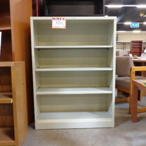 New Hon 35 Wide 4 Shelf Metal Bookcase Putty