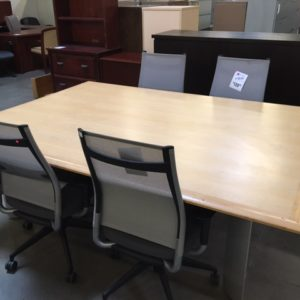 used conference table maple veneer