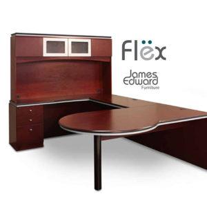 flex series veneer desk main image