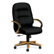 high-back-black-on-wood-frame-conference-chair