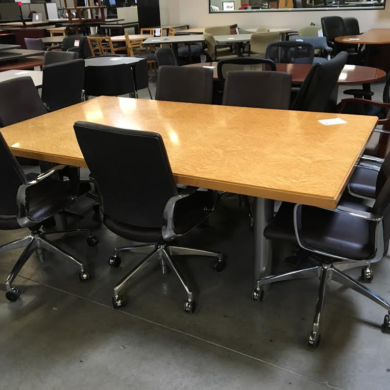Used 7 39 Rectangle Conference Table Birdseye Maple