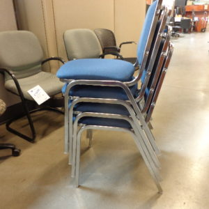 Royal stack chairs blue fabric