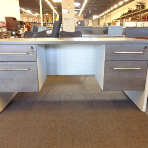 New 30x60 James Edwards Double Pedestal Desk