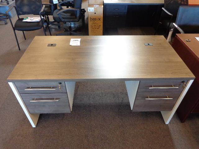 New 30x60 James Edward Double Pedestal Desk Arizona