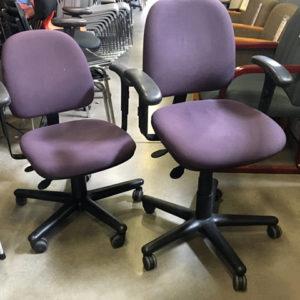 purple kimball task chair
