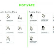 motivate stacking chair line