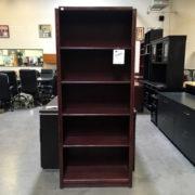 Used Wood bookcase 6 shelf