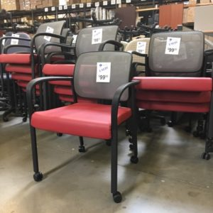 used hon mesh back stack chairs