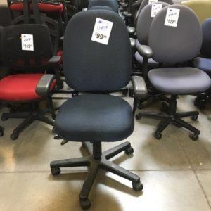 used la z boy blue task chairs