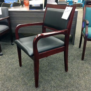 used-black-vinyl-cherry-frame-guest-chair
