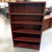used-laminate-bookcase-mahogany-5-shelf
