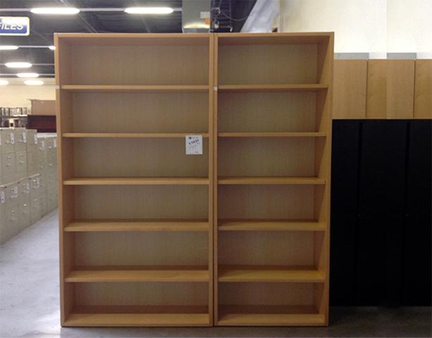 Used Wood Bookcases ~ Used laminate bookcases various sizes arizona office