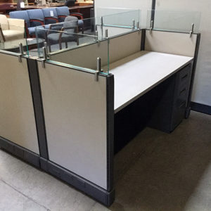 used cubicle-double-workstation