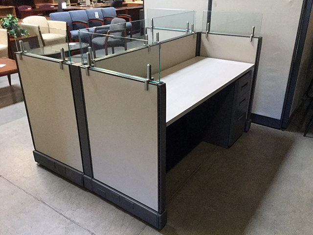 Used Cubicle Double Workstation Arizona Office Furniture
