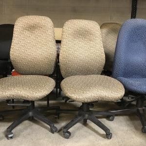 used-hon-7800-task-chairs-beige-patttern-fabric