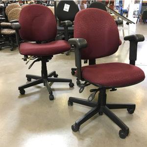 used-task-chair-maroon-pattern-fabric-2