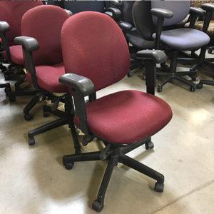 used-task-chair-maroon-pattern-fabric