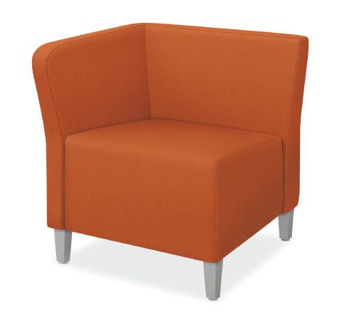 HON Flock Seating Modular End